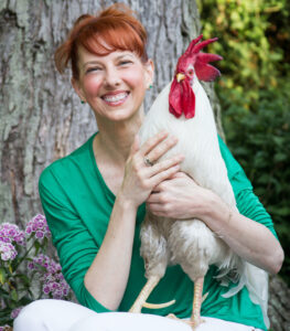 about bree the rescue rooster and camille licate